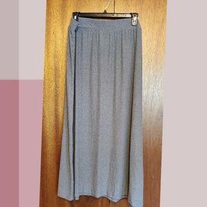 Grey buttery soft maxi skirt